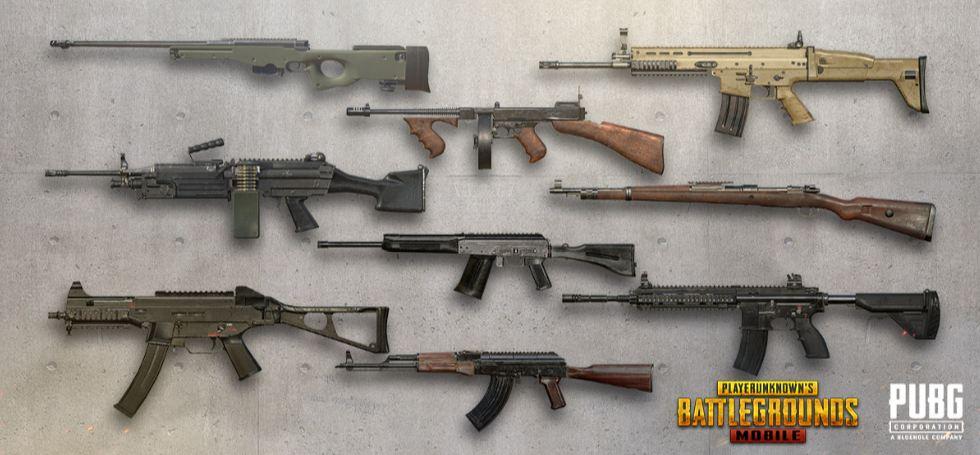 PUBG Mobile Guns in Erangel Map Location